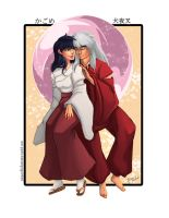 Inuyasha and Kagome by paigemichael
