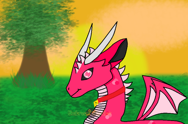 Rose, The Pet Dragon. Day 4 (Smaugust) by UmbreonStudios