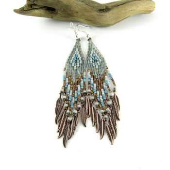 Ice and Soil - native american inspired earrings by Tau-riel