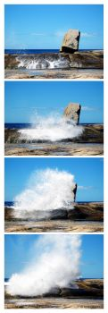 the blowhole at bicheno by kyestar