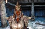 redguard in orcish armor by swept-wing-racer