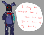 Valentines - Withered Bonnie by SophieHolmes1999