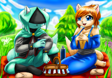 REQUEST Dust and Ginger's Picnic by saikyoryuuougi
