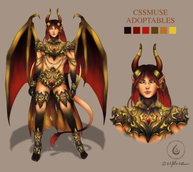 [CLOSED] Demon Adoptable by cssmuse