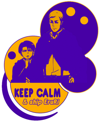 Keep Calm and Ship Eruri by fallenRazziel