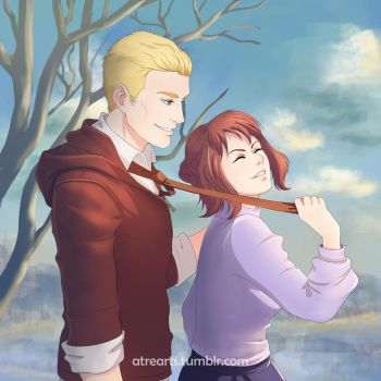 Hetalia Commission: Germany and Czech Republic by AtreJane