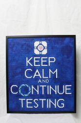 Portal 'Keep Calm' Needlepoint by julisana