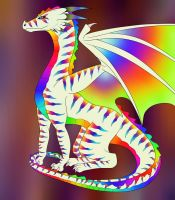 Rainbow Dragon Commision by Redwolfless