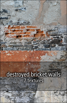 destroyed bricket walls by rainbows-stock