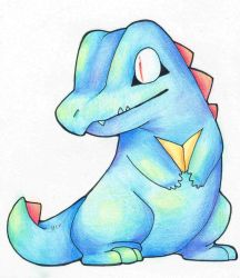 Totodile by Siimamon