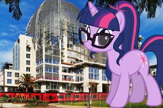 Twilight at the central library by Kentuckyhusky