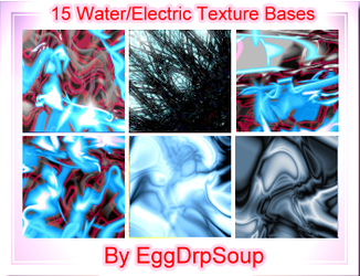 15 Water-Electric Textures by EggDrpSoup