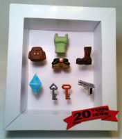 Tomb Raider mini shadow box by KarenGE