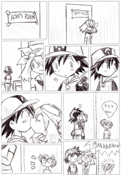 Pokemon Advanceshipping Comic by XeroFox
