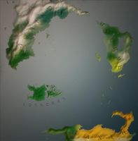 World of Adrie - Physical Map [ORIGINAL] by MartynasB