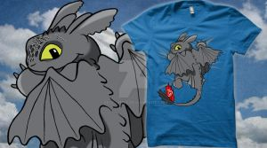 Toothless Tee-B by Pelecymus