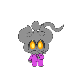 Marshadow in a onsie by FireballHD