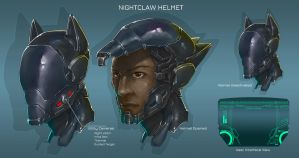 Commission: Nightclaw Helmet. by aiyeahhs