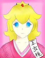 Princess Peach in a Kimono by sentaikick