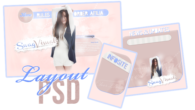 Layout PSD by MariaawTutorials