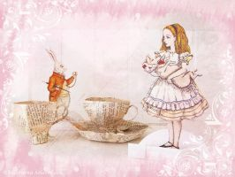 Papermache Alice Tea Cup by ValerianaSolaris