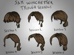 Sam Winchester hair by seasons by verkoka