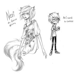 Neri - character design by fayrine