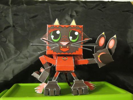 Cute Devil Kitty Paper Toy  Front by WrxStv
