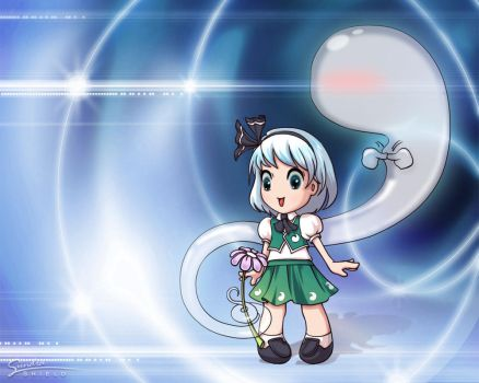 Youmu wallpaper by Shield-Crafts