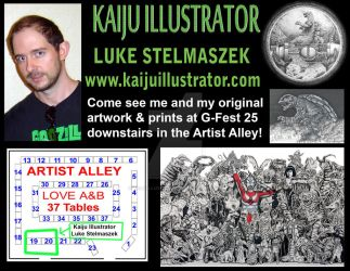 Upcoming convention in Artist Alley at G-FEST 25! by KaijuIllustrator