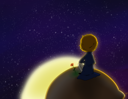Little Prince: Sunset by Captain-Shawn