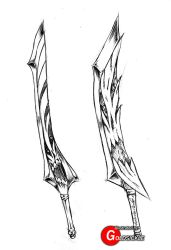 Demonic Swords by Goldsickle