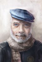An Old Man by joanniegoulet