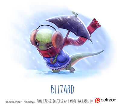 Daily Paint 1472. Blizard by Cryptid-Creations