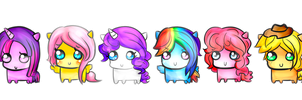 Mane Six by HannahFreakinBanana