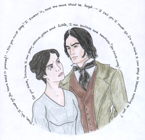 Jane Eyre and Mr. Rochester by Jafean