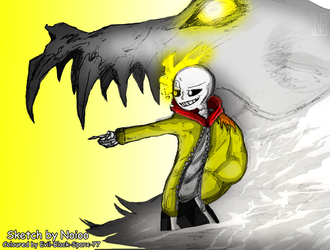 CM: Thunder!Sans - Any last words? by Evil-Black-Sparx-77