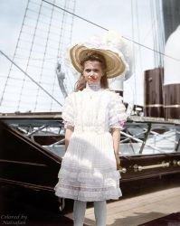 Maria onboard the Standart ~ colored photo by natsafan