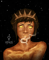 Personified Planets: Venus by CosmosKitty