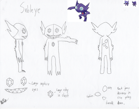 Sableye Costume Reference by DracianFlame
