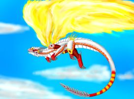 Dragons Flight- Blazing Wings by Lord-Lavrahtheen