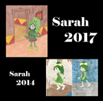 Sarah Comparison 2014-2017 by astroshadow