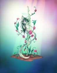 Flexible Flower Pinup by Dreamkeepers