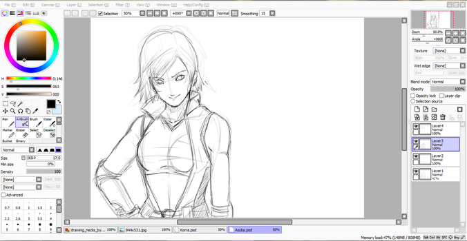 [Tekken] Asuka Kazama Fanart (work in progress) by xXNessiXx