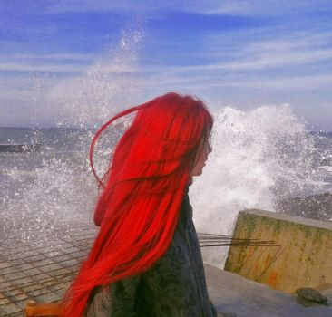 The_Black_Sea_and_The_Red_Haired_Girl by Gabrielle-Grace