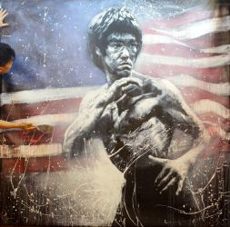 RED WHITE and BRUCE LEE by Law Cheuk Yui by michaelandrewlaw