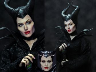 Hot Toys Doll Repaint Angelina Jolie Maleficent by noeling