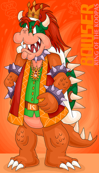 TANSMSE Bowser solo artwork by sallen623