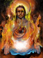 Fire of Christ by Fusciart