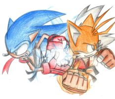 Sonic and Tails Street Fighter! by SonicSpeedz
